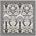 2017 New Chinese Style Fashion silk feeling Women Scarf black and white Flower Printed shawl silk feeling  scarves