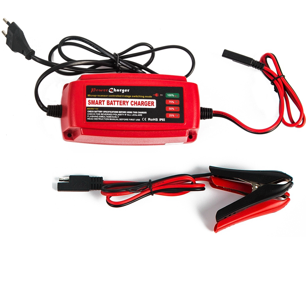 12V 5A Smart Car Scooter <font><b>Battery</b></font> Charger Maintainer & Desulfator 4-stage for AGM GEL WET <font><b>Batteries</b></font> 10-100AH Warranty 2 Years