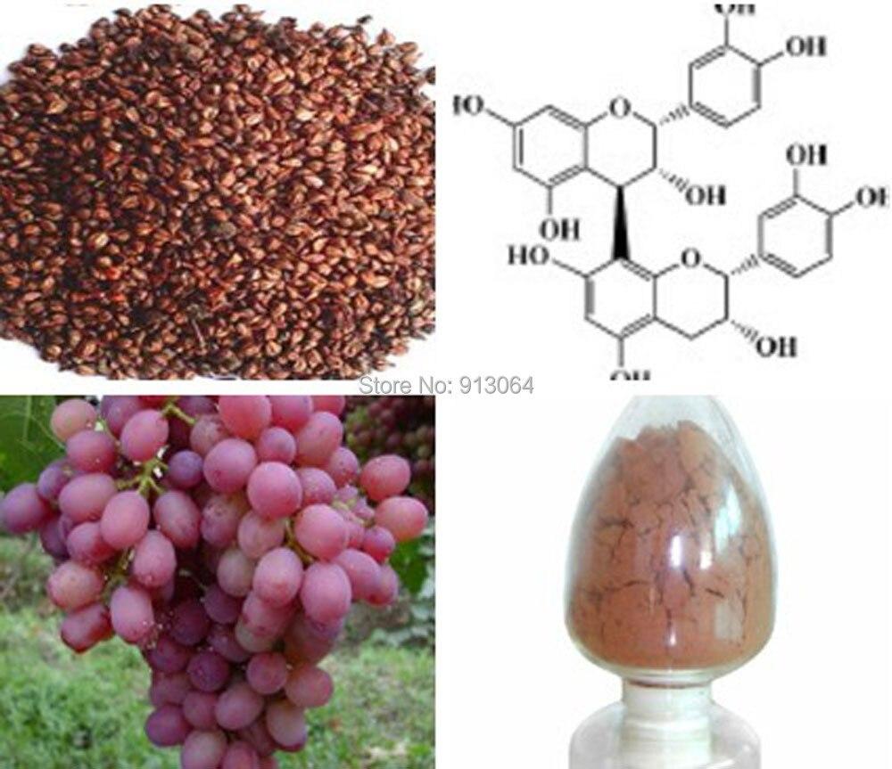 Free shipping 0.8kg bulk packing Beauty Plant Extract Grape Seed p.e. 95%OPC Proanthocyanidins Anti-oxidation, scavenging free