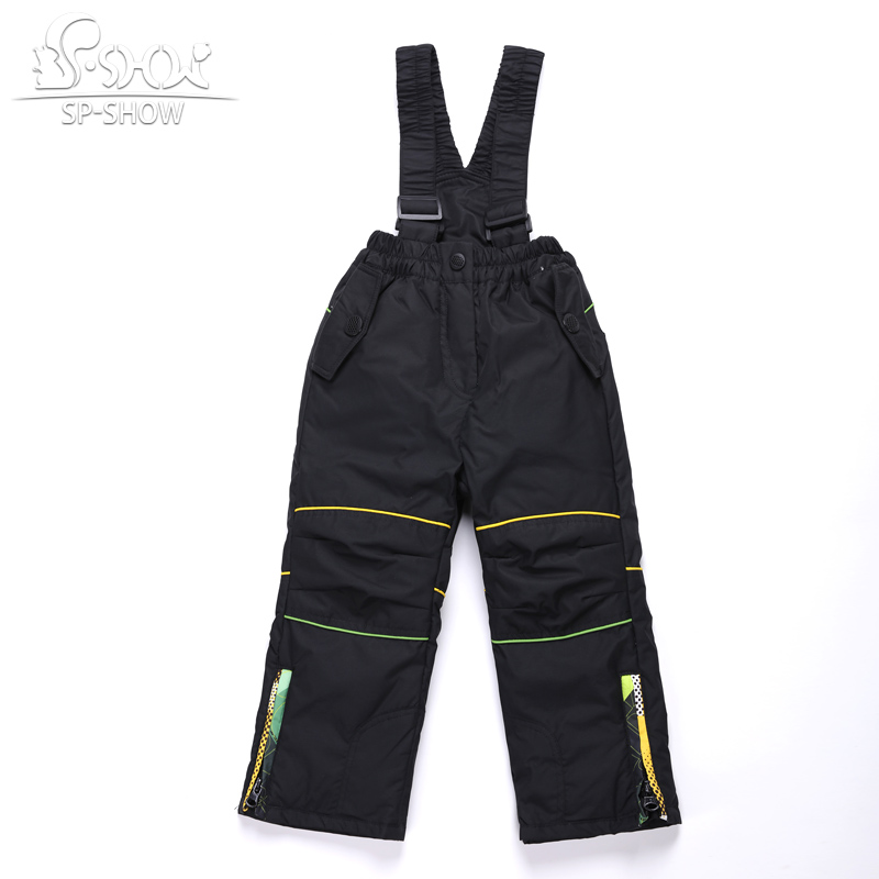 SP-SHOW Children Winter Straight Boy And Girl Trousers zipper fly solid straight unisex 62504 laconic slimming straight leg solid color zipper fly shorts for men
