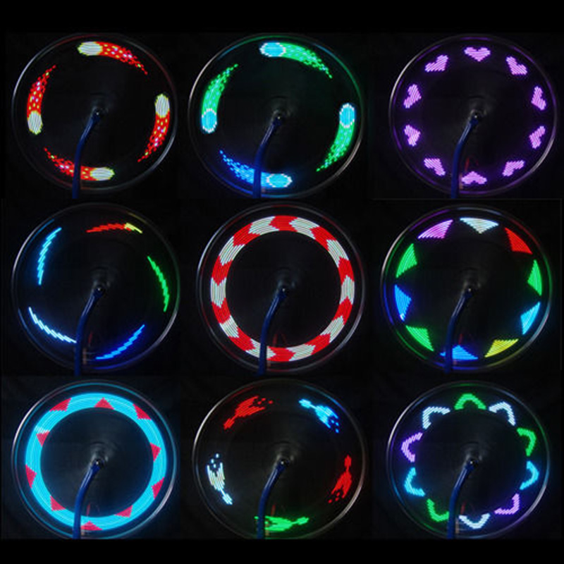 Hot sale 14 led cycling bicycle bikes wheel signal tire spoke light for ciclismo 32 changes