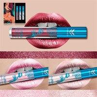 Waterproof Huamianli 3Pcs Set Liquid Lipsticks Moisturizing Lip Sticks Gloss Long Lasting Lip Gross Pigment Cosmetic