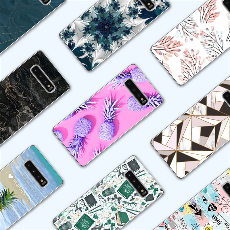 Steady Eleteil Fruit Printed Case For Samsung S8 S9 S10 Plus S7 Edge Pineapple Marble Phone Cases Soft For Samsung S10e Back Cover E40 Cellphones & Telecommunications