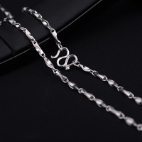 New Arrival Customized 925 Sterling Silver Man's Jewelry Necklace Length 50cm Free Shipping
