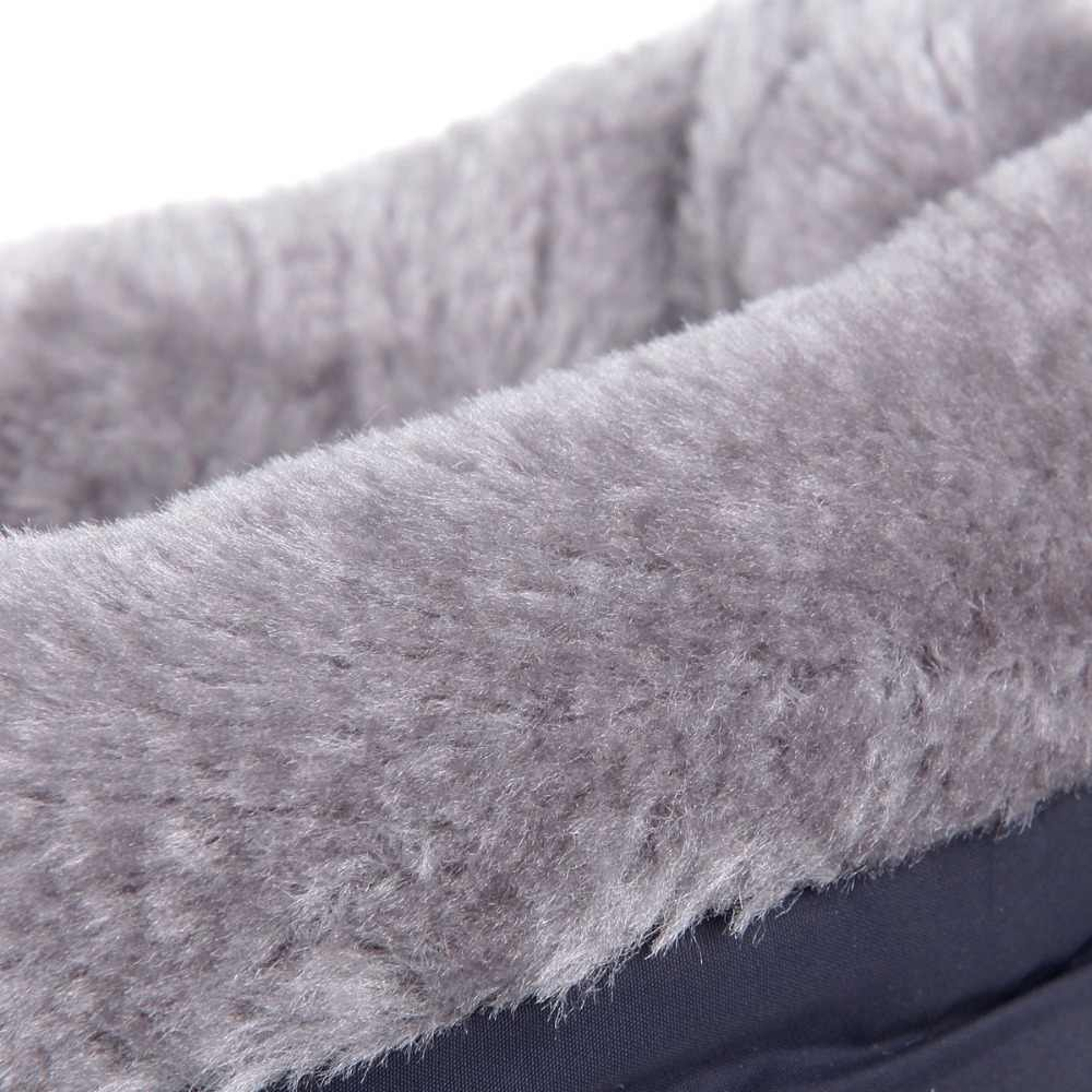 Plus ขนาดผู้หญิงรองเท้าคุณภาพสูงรัสเซียเก็บหิมะอุ่นรองเท้าบูทฤดูหนาวรองเท้าผู้หญิงกว่าเข่าบู๊ทส์สีดำ