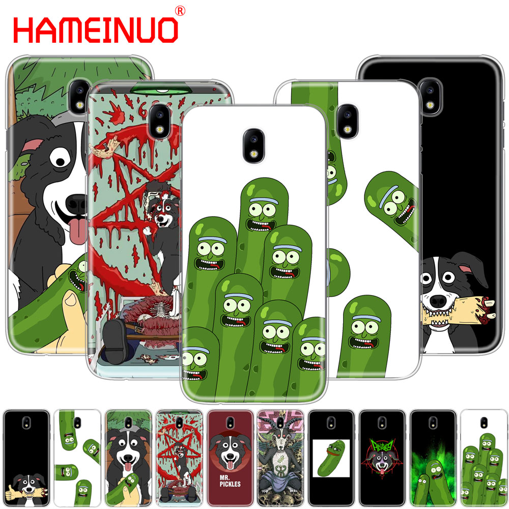 HAMEINUO mr pickles cucumber rick meme cover phone case for Samsung Galaxy J3 J5 J7 2017 J527 J727 J327 J330 J530 J730 PRO image