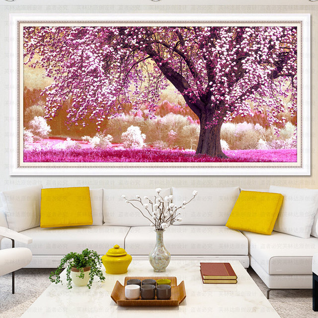 Full Diamond Painting Landscape Of Cherry Tree Diy Diamond ...
