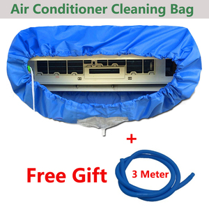 Image 2 - Blue Wall Mounted Air Conditioning Cleaning Bag Split Air Conditioner cleaning Washing Cover Waterproof Protector for 1p/2p/3p