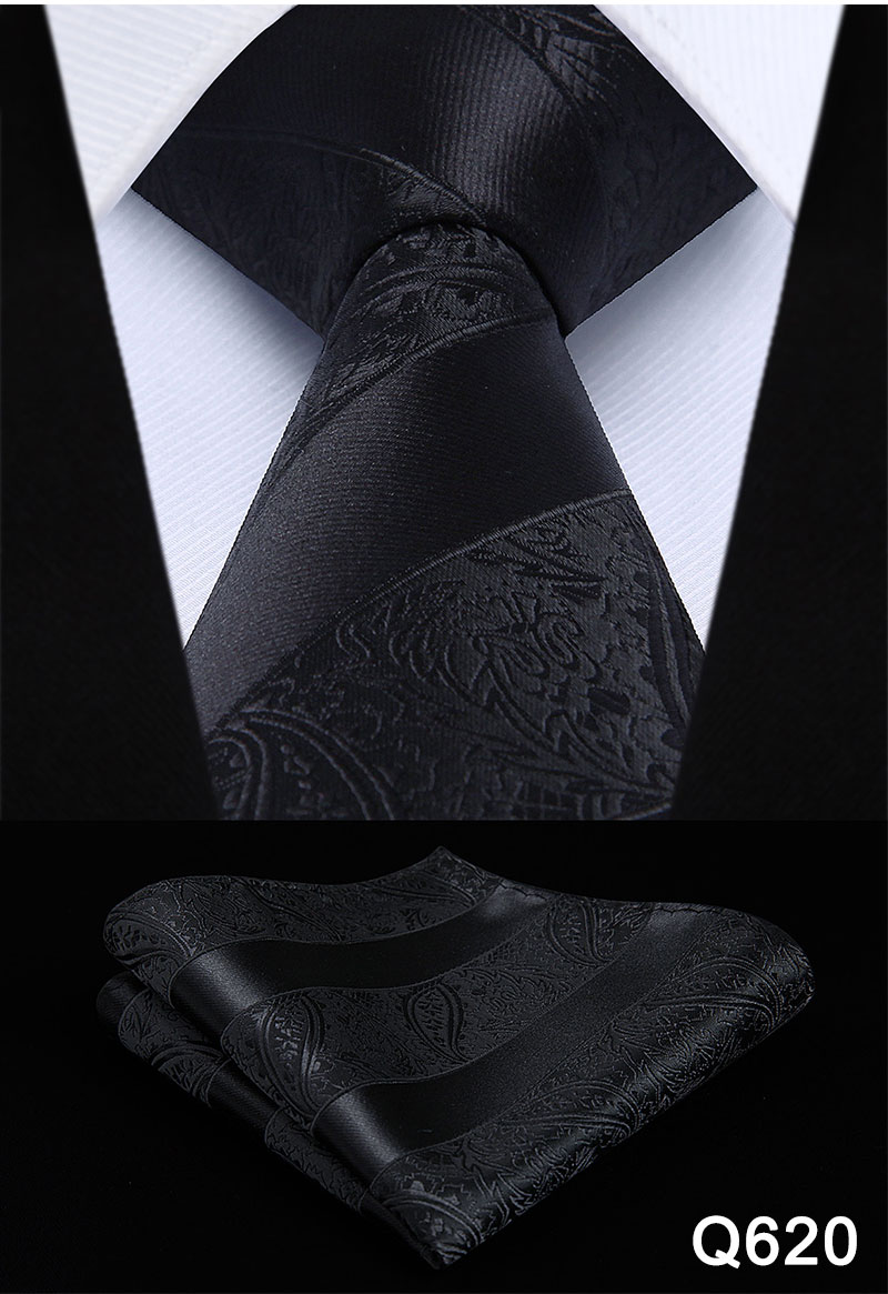 "Floral 3.4"" Silk Mens Extra Long Tie Handkerchief Set"