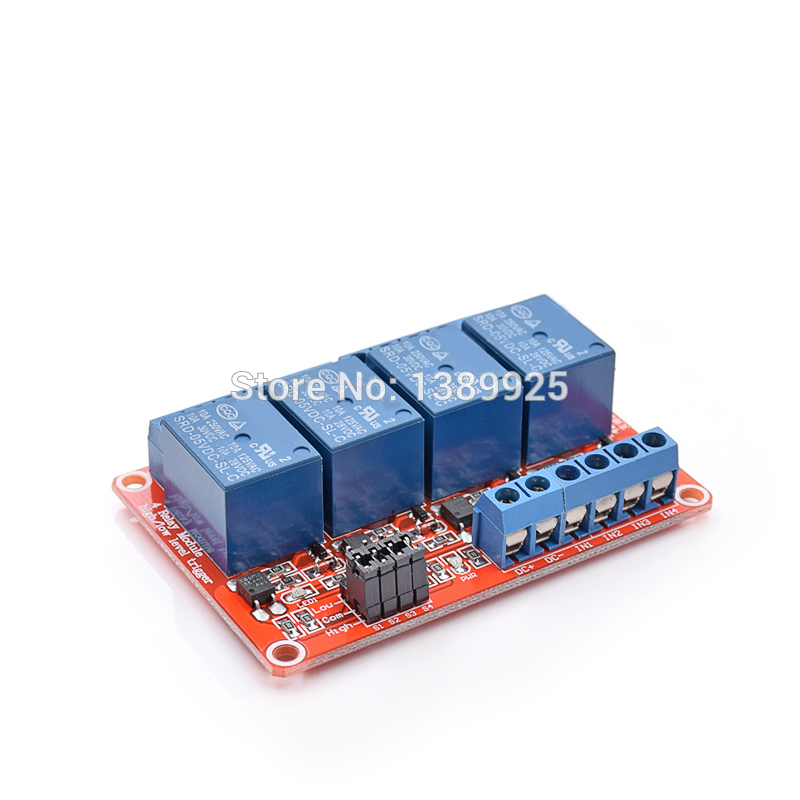 5pcs/lot 5V 4 Channel Relay Module With Opto Isolation Supports High And Low Level Trigger Optocoupler