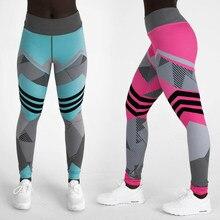 b10b8f243d28c 2018 New High Waist Skinny Print Fitness Leggings Pants Women Workout  Leggings Ladies Red Blue Stretch Legging Jeggings Leggins