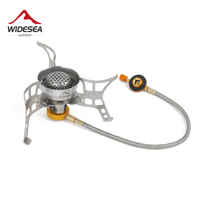 Widesea 3200W Windproof Outdoor Gas Stove Camping Burner Gas Stoves Portable Foldable Split Furnace Butane Hiking
