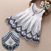 Free Shipping High Quality White Cotton Cloth Bilateral Bilateral Embroidered Lace Fabric Width 130 Cm RS296