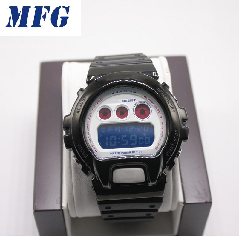 Metalowe ze stali nierdzewnej zegarek pasek do zegarka DW6900 zegarek pasek pasek zegarka rama gshock bransoletka akcesoria z narzędzie do naprawy w null od Zegarki na  Grupa 1
