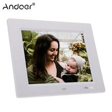 Andoer 8 ультратонкий 1024*600 HD цифровой фоторамка с будильником, MP3, MP4, видеоплеер с дистанционным управлением