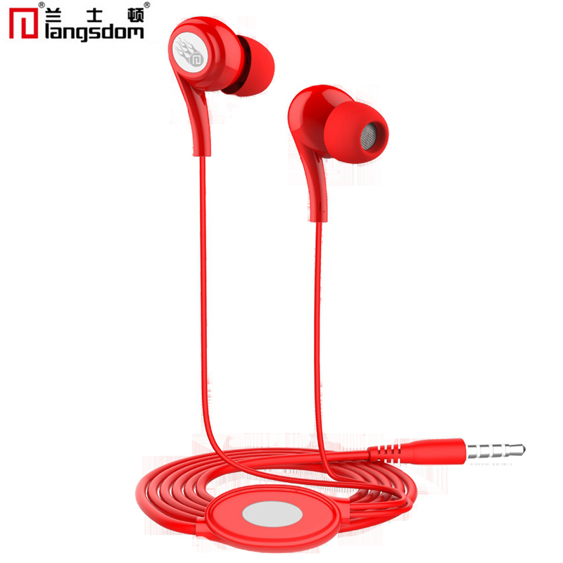 Langsdom JD91 Earphone 3.5mm Stereo Bass in ear earphones Earbuds With Microphone For Mobile Phones For Computer MP3 MP4