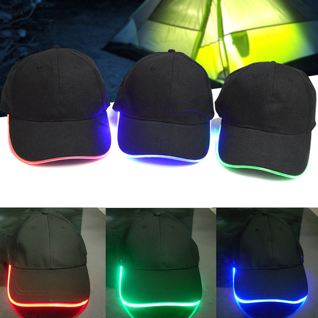 Night Fishing Light Baseball Flash Dance Glow In The Dark Hip Hop Fashion  Sport Fitted Hat Led Cap for Unisex Shop -MX8 3d1a0a450fa