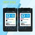 2PK for HP 652 652 XL Black Ink Cartridge for HP652 Deskjet 1115 1118 2135 2136 3635 3636 3638 4535 4536 4538 4675 4676 Printer