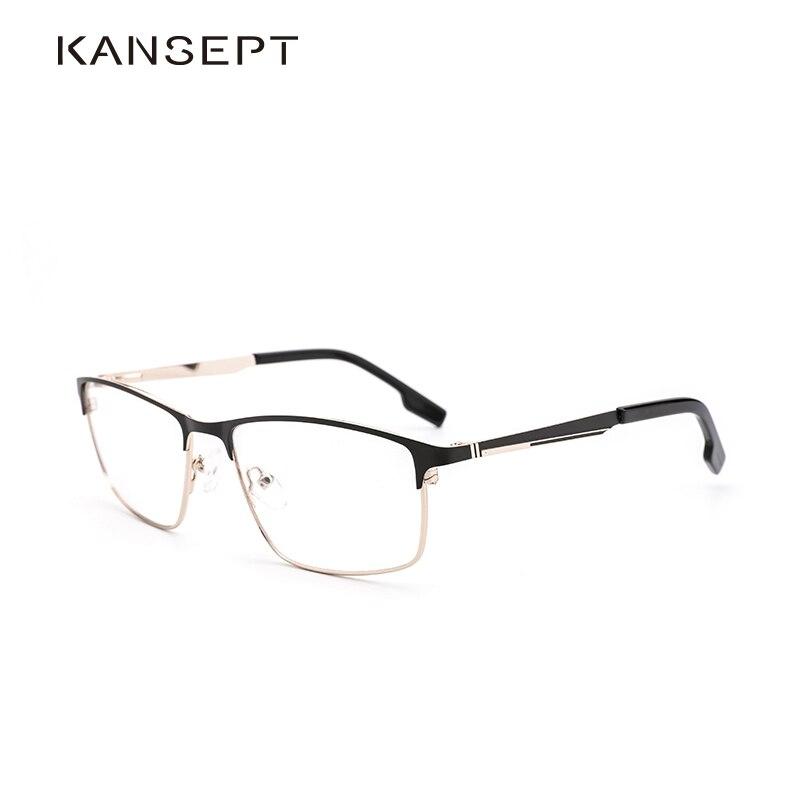 Metal Men Optical Glasses Frame 2019 New Business Fashion Square Popular Transparent Myopia Men Eyeglasses Frame#1212C1