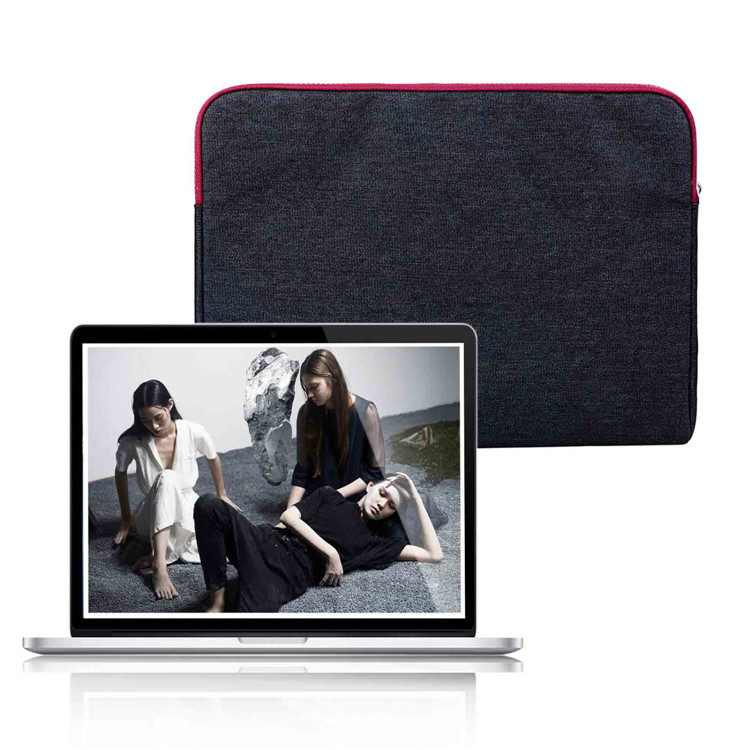 business style jean Laptop Sleeve Case for macbook air 13 pro retina 13 air 11 12 Denim Computer Bag for 11 12 13.3inch macbook