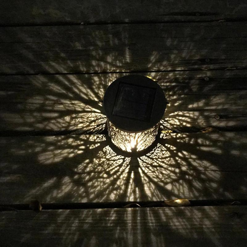 1pcs Metal Rattan Outdoor Solar Hanging LED Lights ...