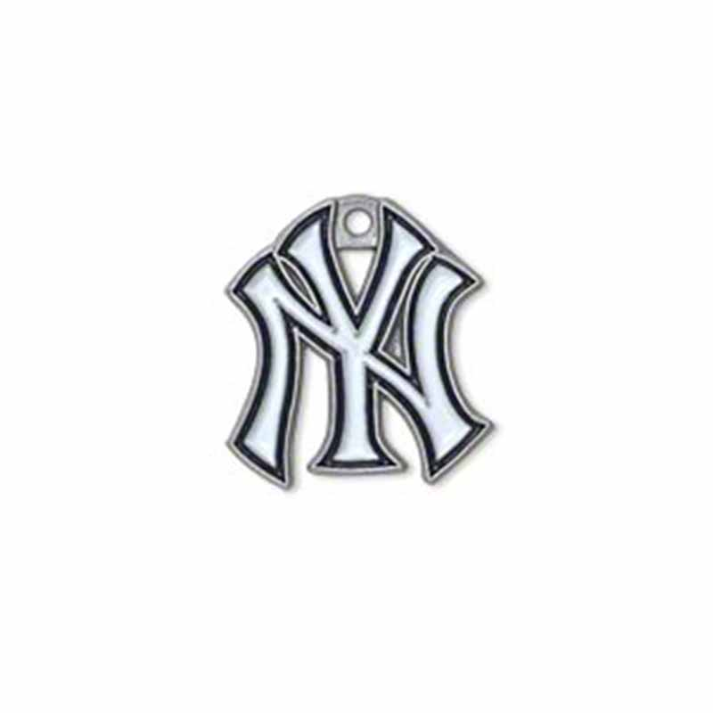 Wholesale 100Pcs Baseball Baseball Team Logo Charms Alloy With Enamel NY Yankee Charms For DIY Necklace & Bracelet & Earring