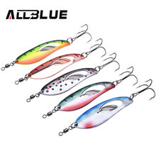 ALLBLUE Metal Fishing Lure 5pcs/lot Spoon Lure Spinner Bait Fishing Tackle Hard Bait Spinner Bait Isca Artificial Peche(China)