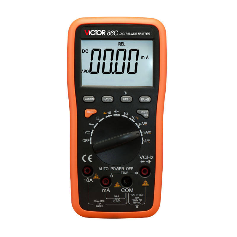 Ammeter Multitester VICTOR 86C 3 3/4 Digital Multimeter AC DC Resistance Capacitance Frequency Victor Multimeter victor lcd 3 1 2 digital multimeter vc9804a