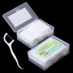 Шт. 50 шт. зубная нить Flosser выбирает зубы Зубочистки зубные чистка зубов Уход за полостью рта 7,5 см