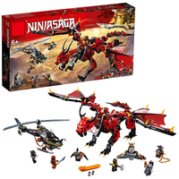 2018 new ninja dragon knight building blocks enlighten toy for children Compatible Legoing Ninjagoes DIY bricks for boy friends