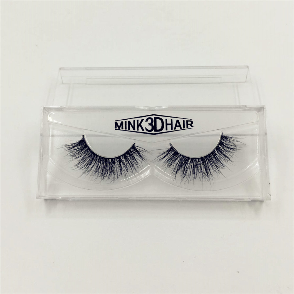 1 par 100% Real Mink 3D Cross Thick False Eye Washes Extension Makeup Super Natural Long Fashion Pro Mjuka False Fake Eyelashes
