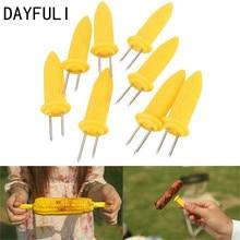 DAYFULI 6 шт. безопасный Кукуруза в початках держатели шампуры иглы зубцы для барбекю сад ручные инструменты вилка