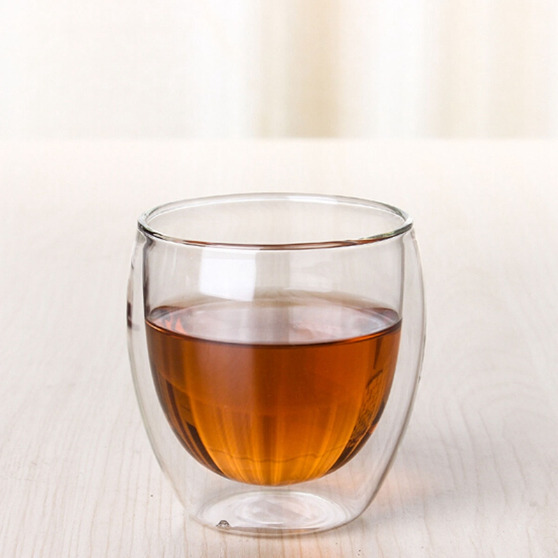 Mini Kungfu Tea Drink Cup Modern Design 70ml Clear Handmade Heat Resistant Double Wall Glass Healthy Mug Coffee In Mugs From Home Garden On