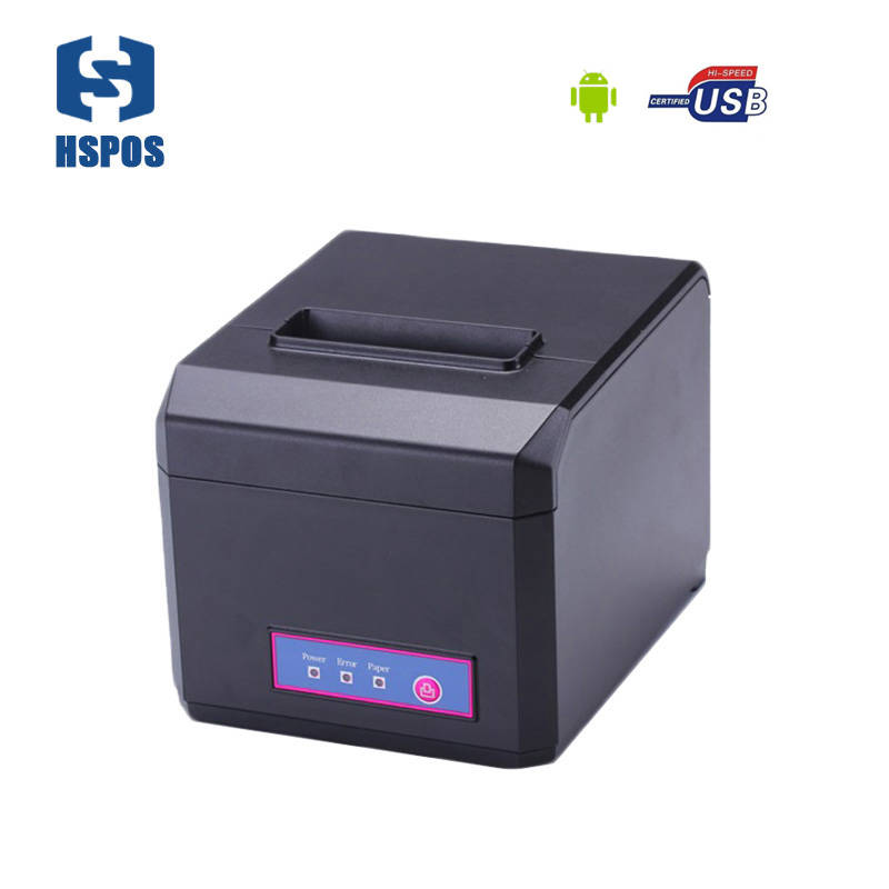 Pos 80mm bluetooth android thermal receipt printer with auto cutter support 58mm and 80mm width 300mm/s high speed HS E81UA