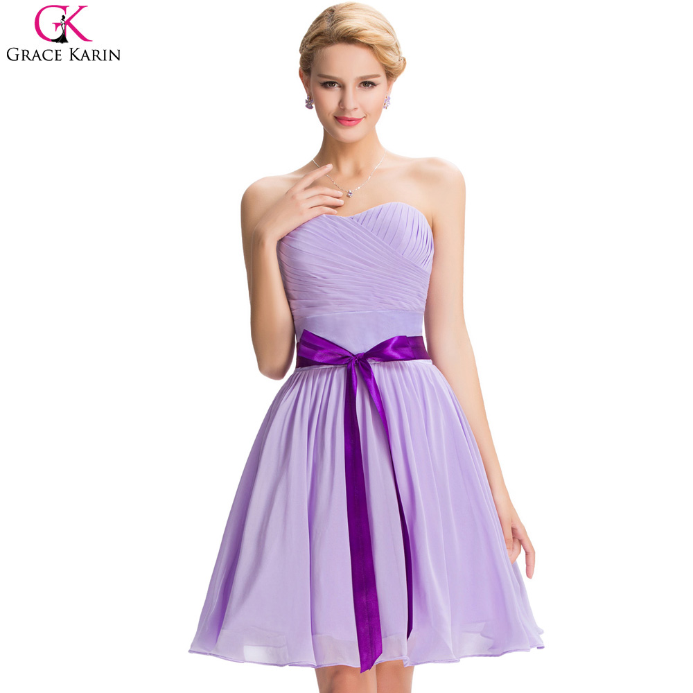 Online get cheap lilac strapless bridesmaid dresses aliexpress lilac purple bridesmaid dresses robe grace karin lace up strapless elegant short bridesmaid dress for party ombrellifo Images