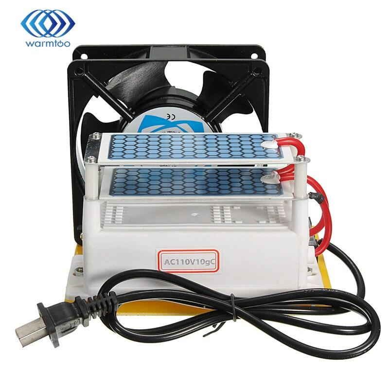 AC110V Metallo + Plastica Heavy Duty 10000 Mg/H (10g) Generatore di Ozono Con Blu Piastre Trattamento Portatile