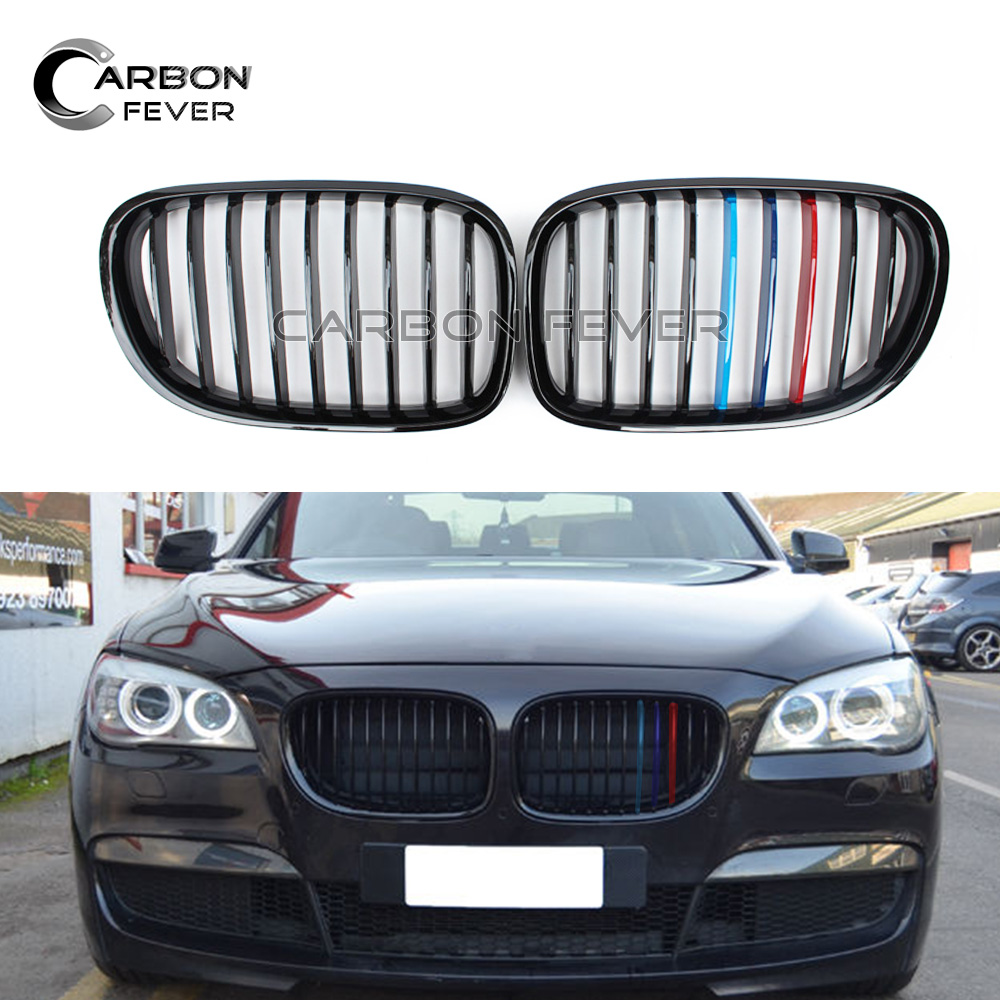 For BMW F01 F02 F03 F04 Front Bumper Kidney Grille Gird 7 Series 4-door Sedan 2008 - 2015 740i 750i 760i grey frp car grills front bumper grill grille for mazda 6 sedan 4 door only 2009 2013 gs gt i s