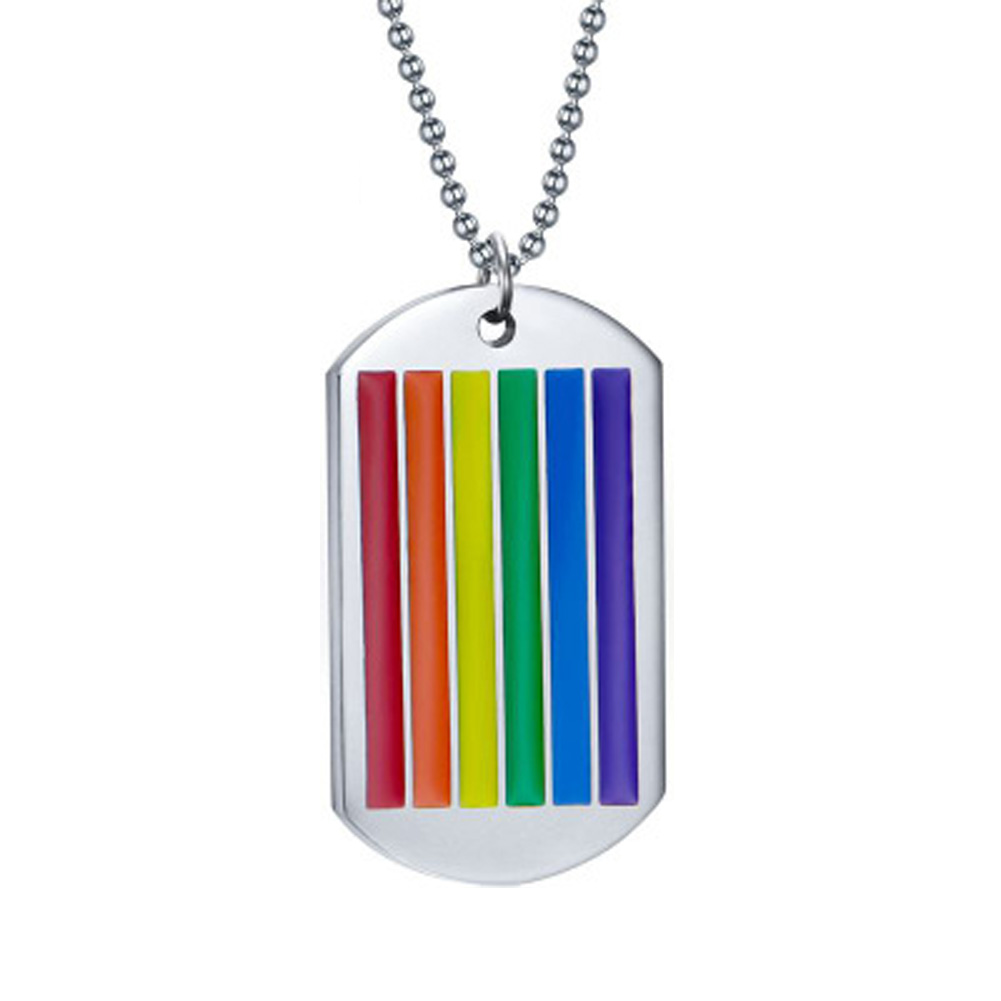 2017 New Rainbow Pendant Necklace For Woman Stainless Steel Choker Gay And Lesbian Pride Jewelry Gifts