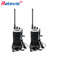 2pcs Retevis RT7 Handy Walkie Talkie Radio 5W 16CH UHF 400-470MHz FM Radio(88-105MHz) Scan 2 Way Ham Radio Set Hf Transceiver RU