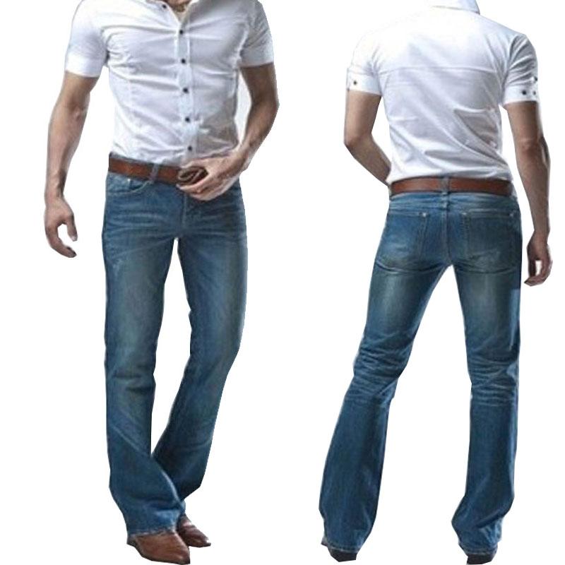 2020 Spring New Men's Modis Micro-horn Blue Jeans Korean Version Of The Tide Slim Small Trumpet Denim Pants Biker Jeans Size 38
