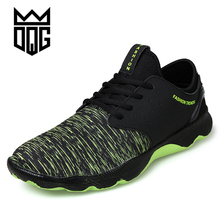 DQG New Model Low cost Males Working Footwear Air Mesh Breathable Males's Basketball Footwear Excessive High quality Lace-up Black Males Sports activities Sneakers