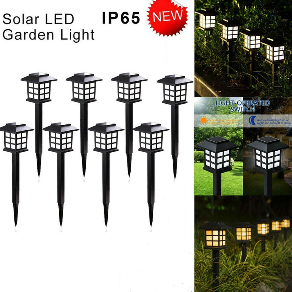 2-20 Pack Led Solar Pathway Lamps Lights Outdoor Waterproof Solar Garden Lawn Lamps For Garden Landscape Path Yard Patio Walkway