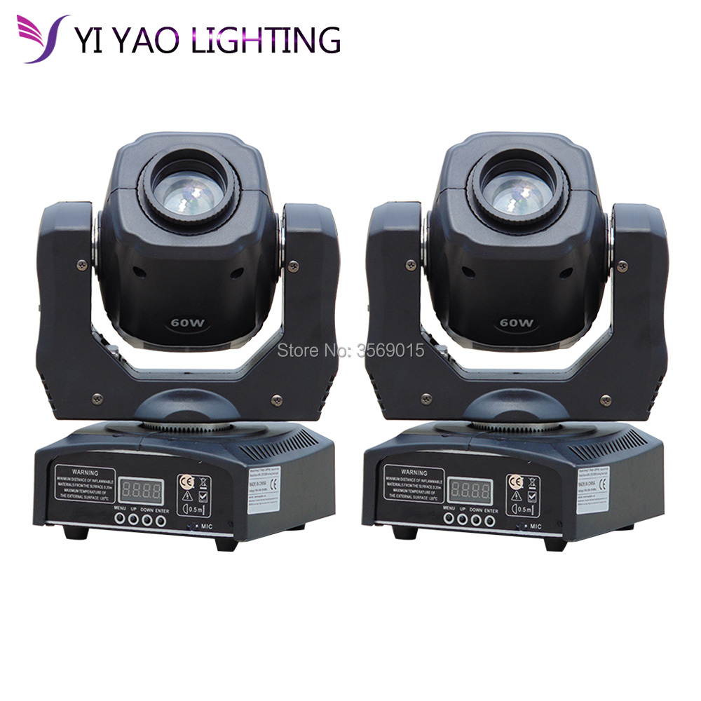 2pcs/lot 60W LED Spot Moving Head Light DJ Spot Light 60W gobo moving heads lights super bright LED DJ Spot Light spot light 5819127