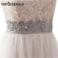 TOPQUEEN AS22 S Wedding Sashes Belt Bride Evening Party Gown Dresses Accessories Wedding Diamond Waistbands 5CM Ribbon