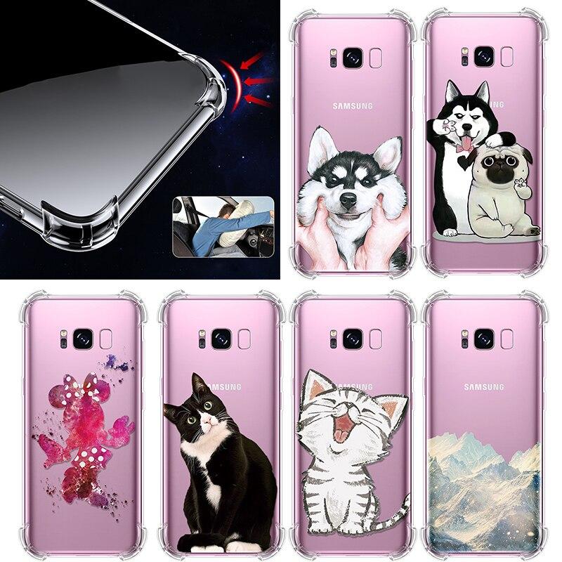Cute TPU For Samsung Galaxy Note 8 9 A3 A5 A6 A6S A9S A7 2017 A8 A9 Star Pro S7 Edge S8 S9 S10 Lite Plus S10e J4 J6 J8 2018 Case