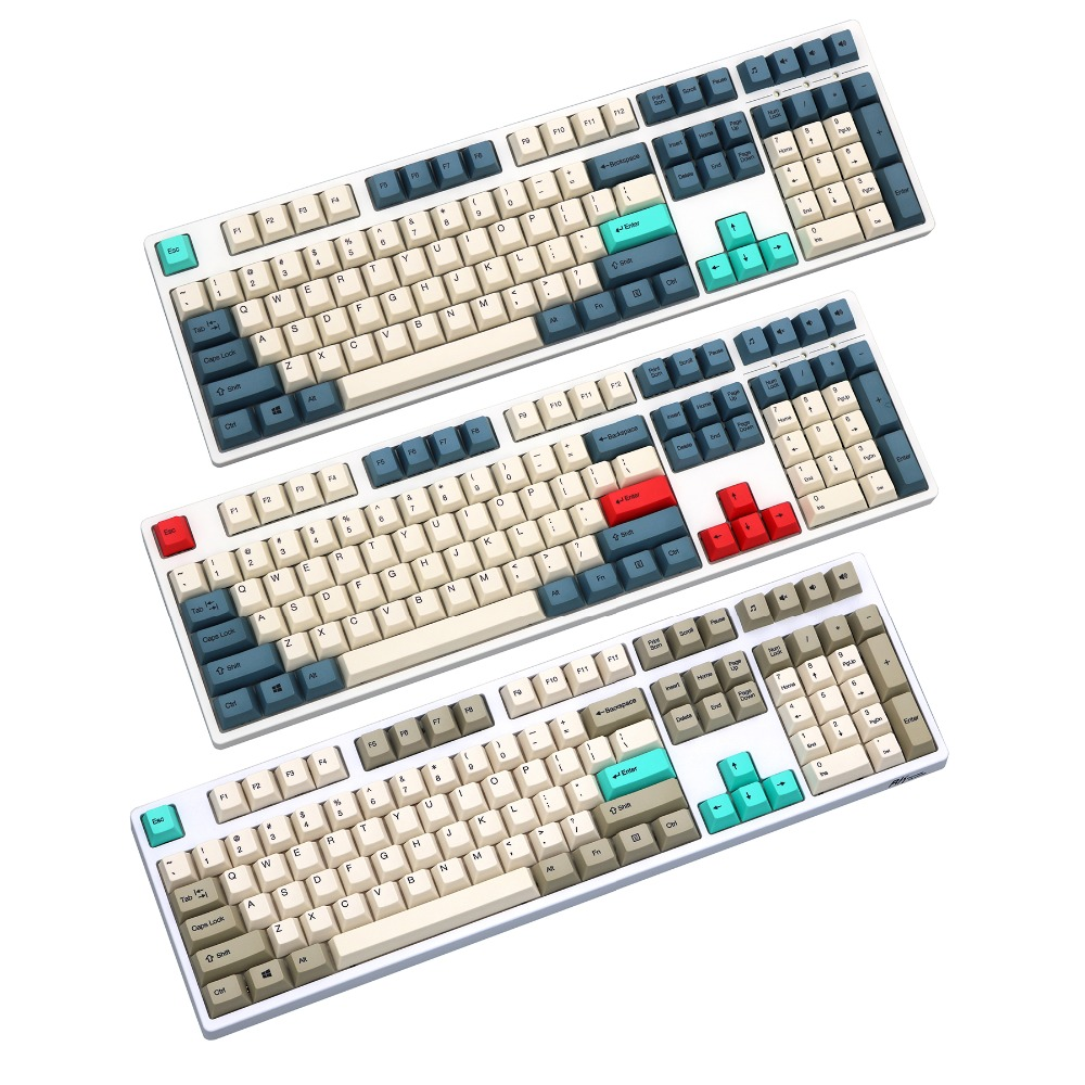 108 keys dye sublimated pbt keycap for mechanical keyboard Cherry Filco Ducky keycap Cherry profile Only sell keycaps
