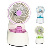 DMWD Newest Multifunctional Water Mist Cooling Fan 220V Desktop Home Mini Ultrasonic Arom Air Humidifier Air Conditioner