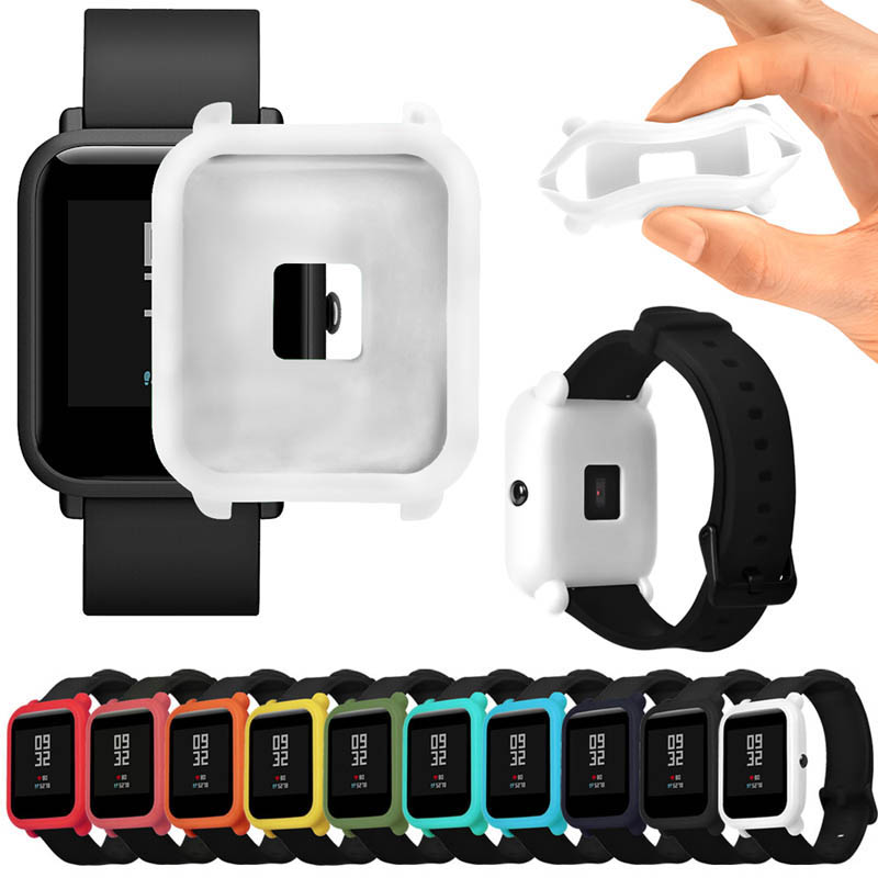 Soft TPU Protection Silicone Full Case Cover Full Cover Cases For Huami Amazfit Bip Youth Watch  SD998
