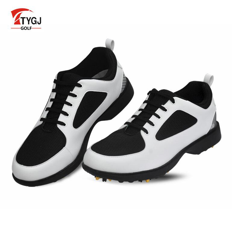 TTYGJ Golf Shoes Mens Scarpe Sneakers Men Primera Capa Hombre Deportiva Outdoor Men's Shoes Made of Genuine Leather Golf Shoes new golf shoes men genuine leather sneakers tenis masculino breathable trainers male shoes footwear zapatillas hombre deportiva