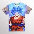 El más nuevo Estilo 3D camiseta Divertida Anime Dragon Ball Z Goku Super Saiyan t shirts Mujeres Hombres Harajuku tee shirts camisetas Casuales tops